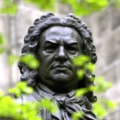 Standbeeld Johann Sebastian Bach in Leipzig